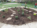 Youth volunteers at Stony Brook constructed a beautiful garden circle for the whole community on April 14 2014