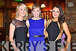 Enjoying the Stacks social held in the Meadowlands Hotel, Tralee, on Saturday night were l-r: Mallory Higgins, Aisling O'Mahony and Aisling O'Brien.