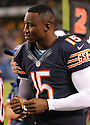 BRANDON MARSHALL (15), of the Chicago Bears, in action during the Bears preseason game against the Denver Broncos on August 9, 2012 at Soldier Field in Chicago, IL. The Broncos beat the Bears 31-3.
