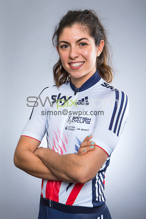 Picture by Alex Whitehead/SWpix.com - 14/08/2015 - Track Cycling - Great Britain Cycling Team Portraits - Derby Arena, Derby, England - Great Britain's Dannielle Khan