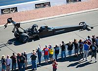 Nov 3, 2019; Las Vegas, NV, USA; NHRA top fuel driver Mike Salinas during the Dodge Nationals at The Strip at Las Vegas Motor Speedway. Mandatory Credit: Mark J. Rebilas-USA TODAY Sports