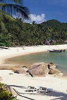 THA, Thailand, Insel Ko Pha Ngan, Thong Nai Pan Noi Bucht und Strand | THA, Thailand, island Ko Pha Ngan, Thong Nai Pan Noi bay and beach