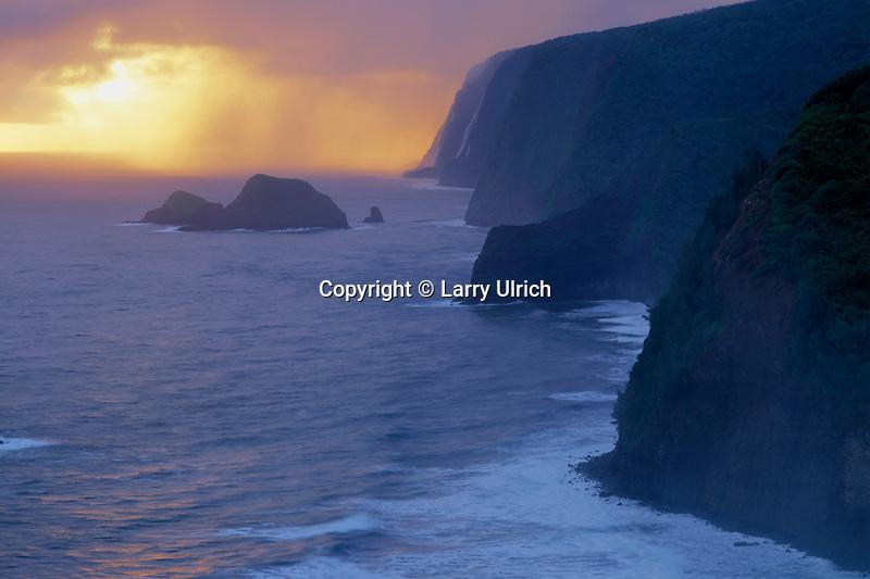 North Kohala Coast<br />   from Pololu Valley Lookout<br /> North Kohala<br /> Island of Hawaii,  Hawaii