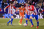 Atletico de Madrid's Saúl Ñígez, Koke Resurrección and Juanfran Torres and SD Eibar's Ruben Peña Jimenez during Copa del Rey match between Atletico de Madrid and SD Eibar at Vicente Calderon Stadium in Madrid, Spain. January 19, 2017. (ALTERPHOTOS/BorjaB.Hojas)