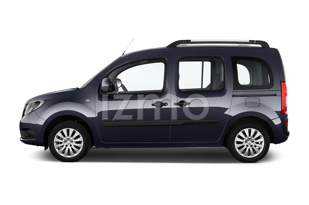 Car Driver side profile view of a 2015 Mercedes Benz Citan 109 Cdi 5 Places 5 Door Passenger Van Side View