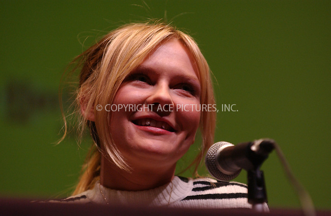 WWW.ACEPIXS.COM . . . . . ......October 13 2006, New York City....KIRSTEN DUNST attending a press conference for the movie 'Marie Antoinette' as part of the 2006 New York Film Festival at the Alice Tully Hall.....Please byline: KRISTIN CALLAHAN - ACEPIXS.COM.. . . . . . ..Ace Pictures, Inc:  ..(212) 243-8787 or (646) 769 0430..e-mail: info@acepixs.com..web: http://www.acepixs.com