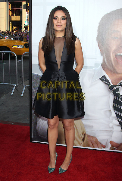 Mila Kunis.The L.A. Premiere of 'Ted' held at The Grauman's Chinese Theatre in Hollywood, California, USA..June 21st, 2012.full length black sleeveless dress sheer plunging neckline green shoes .CAP/ADM/RE.©Russ Elliot/AdMedia/Capital Pictures.