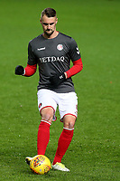 Patrick Bauer of Charlton Athletic warms up pre-match during Charlton Athletic vs Portsmouth, Checkatrade Trophy Football at The Valley on 7th November 2017