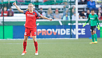 Portland, OR - Wednesday June 28, 2017: Emily Sonnett during a regular season National Women's Soccer League (NWSL) match between the Portland Thorns FC and FC Kansas City at Providence Park.