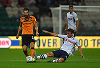 Preston North End's Ryan Ledson tackles Hull City's Jon Toral<br /> <br /> Photographer Dave Howarth/CameraSport<br /> <br /> The Carabao Cup Second Round - Preston North End v Hull City - Tuesday 27th August 2019  - Deepdale Stadium - Preston<br />  <br /> World Copyright © 2019 CameraSport. All rights reserved. 43 Linden Ave. Countesthorpe. Leicester. England. LE8 5PG - Tel: +44 (0) 116 277 4147 - admin@camerasport.com - www.camerasport.com