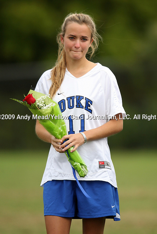 25 October 2009: Duke's Sara Murphy. The Duke University Blue Devils defeated the Virginia Tech Hokies 4-1 at Koskinen Stadium in Durham, North Carolina in an NCAA Division I Women's college soccer game.