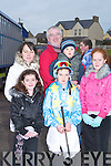 BRAVING THE COLD: At the Ballyheigue Races on a cold Sunday were Sarah Loftus, Helena Stretch, Paudie and Jake Fuller, Emer Loftus and Kelly Moriarty.   Copyright Kerry's Eye 2008