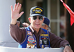 U.S. Submarine Veteran Dave Aunkst rides in the annual Veterans Day parade in Virginia City, Nev., on Monday, Nov. 11, 2013.<br /> Photo by Cathleen Allison