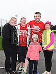 Emma Quigley, Belinda and Niall Seerey and Pamela and Aimee Rice who took part in the Goal Mile at St Fechins GAA club on St Stephen's morning. Photo:Colin Bell/pressphotos.ie