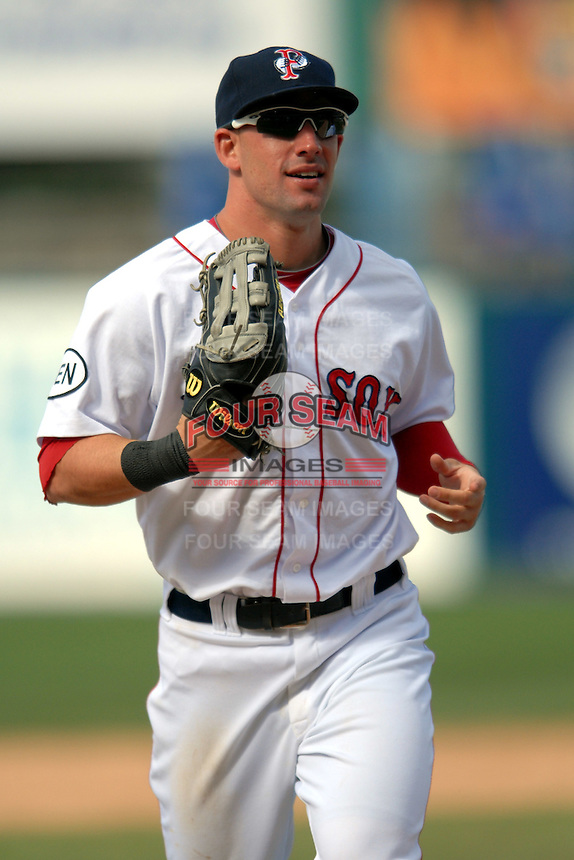 Outfielder Ryan Kalish #2 of the Pawtucket Red Sox during a game versus the Buffalo Bisons on 4-17-11 at McCoy Stadium in Pawtucket, Rhode Island. Photo by Ken Babbitt /Four Seam Images