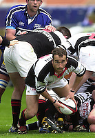 26/05/2002.Sport -Rugby Union - Parker Pen Shield Final.Sale vs Pontypridd..Pool captain  -  Paul John   [Mandatory Credit, Peter Spurier/ Intersport Images].