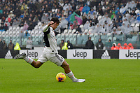 1st December 2019; Allianz Stadium, Turin, Italy; Serie A Football, Juventus versus Sassuolo; Paulo Dybala of Juventus has a shot at goal - Editorial Use