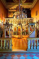 Interior of the Theotokos, Monastery, Paleokastitsa, 18th century Greek Orthodox. Corfu Ionian Island, Greece