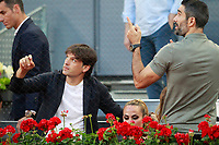Real Madrid's legends Fernando Morientes (l) and Fernando Sanz during Madrid Open Tennis 2018 match. May 11, 2018.(ALTERPHOTOS/Acero) /NORTEPHOTOMEXICO