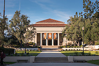 Thorne Hall, designed by Myron Hunt, on the campus of Occidental College, Nov. 22, 2016.<br />