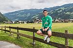 11.07.2019, DasPosthotel, Zell am Ziller, AUT, TL Werder Bremen Zell am Ziller / Zillertal Tag 07<br /> <br /> im Bild<br /> Milot Rashica (Werder Bremen #07) während Mixed Zone, <br /> <br /> Foto © nordphoto / Ewert