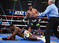 DALLAS, TX - MARCH 16: Chris Arreola fights Jean Pierre Agustin at the Fox Sports PBC Pay-Per-View fight night at AT&T Stadium on March 16, 2019 in Dallas, Texas. (Photo by Frank Micelotta/Fox Sports/PictureGroup)