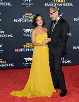 Tessa Thompson &amp; Jeff Goldblum at the premiere for &quot;Thor: Ragnarok&quot; at the El Capitan Theatre, Los Angeles, USA 10 October  2017<br /> Picture: Paul Smith/Featureflash/SilverHub 0208 004 5359 sales@silverhubmedia.com