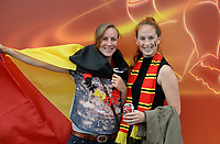 20170720 - BREDA , NETHERLANDS : Belgian Fans pictured before the female soccer game between Norway and the Belgian Red Flames  , the second game in group A at the Women's Euro 2017 , European Championship in The Netherlands 2017 , both teams lost their first game , thursday 20 th June 2017 at Stadion Rat Verlegh in Breda , The Netherlands PHOTO SPORTPIX.BE | DAVID CATRY