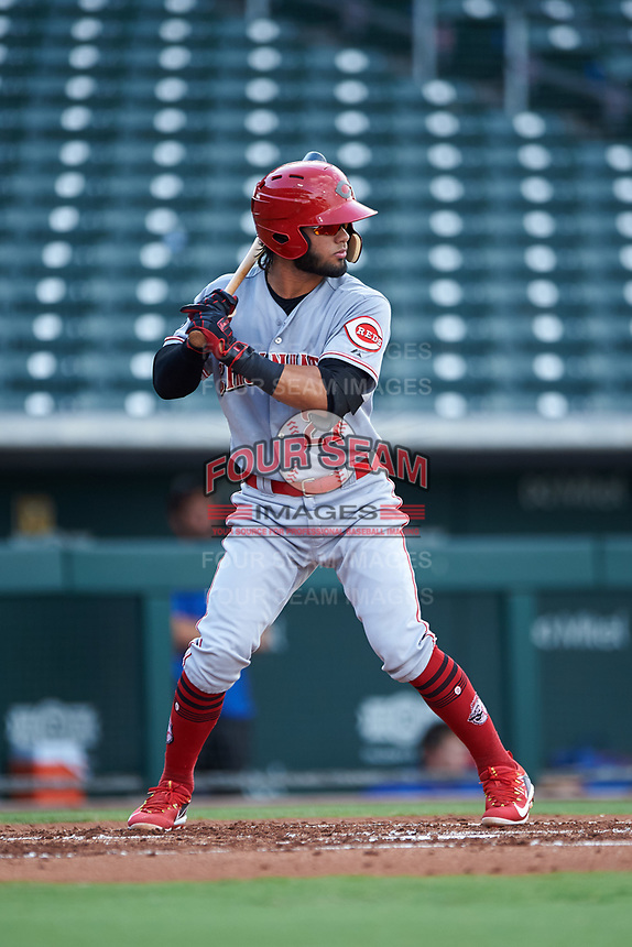 AZL Reds Jorge Sequera (27) at bat during an Arizona League game against the AZL Cubs 2 on July 23, 2019 at Sloan Park in Mesa, Arizona. AZL Cubs 2 defeated the AZL Reds 5-3. (Zachary Lucy/Four Seam Images)