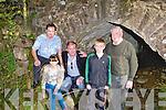DAN HANAFIN BRIDGE: Denis, Anna, Teddy, Jordan and Jimmy Foley under the Dan Hanafin bridge at Clahane on Saturday.