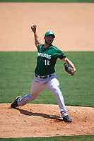 Daytona Tortugas relief pitcher Jacob Ehret (18) during a game against the Clearwater Threshers on April 20, 2016 at Bright House Field in Clearwater, Florida.  Clearwater defeated Daytona 4-2.  (Mike Janes/Four Seam Images)