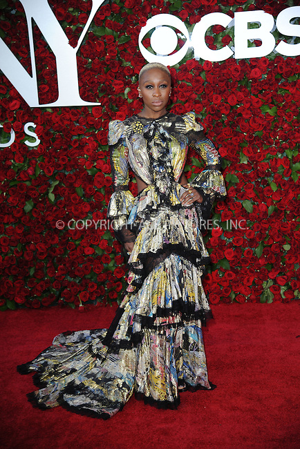 www.acepixs.com<br /> June 12, 2016  New York City<br /> <br /> Cynthia Erivo attending the 70th Annual Tony Awards at The Beacon Theatre on June 12, 2016 in New York City.<br /> <br /> Credit: Kristin Callahan/ACE Pictures<br /> <br /> <br /> Tel: 646 769 0430<br /> Email: info@acepixs.com