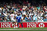 Unites States vs Samoa during the HSBC Sevens Wold Series Cup Quarter Finals match as part of the Cathay Pacific / HSBC Hong Kong Sevens at the Hong Kong Stadium on 29 March 2015 in Hong Kong, China. Photo by Juan Manuel Serrano / Power Sport Images