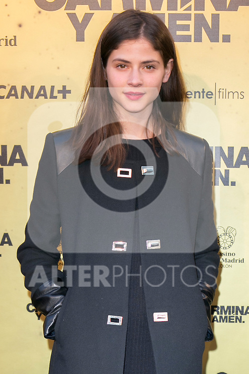 "Spanish Model Alba Galocha attend the Premiere of the movie ""Carmina y Amen"" at the Callao Cinema in Madrid, Spain. April 28, 2014. (ALTERPHOTOS/Carlos Dafonte)"