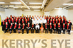 The Ard Churam Community Choir from Listowel recording their new  CD at the new Sports Academy in I T Tralee on Monday.