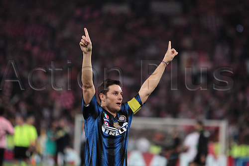 29.05.2011. Final Coppa Italia (Tim Cup) Stadio Olimpico, Rome, Italy.  Zanetti celebrate the victory during the Final Tim Cup match Inter Milan versus Palermo at the Olimpic Stadium on Italy.