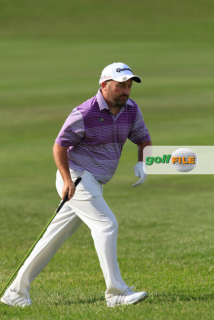 Damien McGrane (IRL) on the 16th fairway during Round 2 of the Open de Espana  in Club de Golf el Prat, Barcelona on Friday 15th May 2015.<br /> Picture:  Thos Caffrey / www.golffile.ie