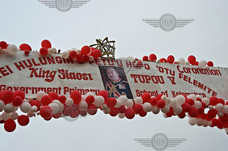 Decorations adorn Nuku'alofa the captial of the Pacific Kingdom of Tonga, in celebration of the Coronation of King George Tupou V.