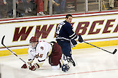 Patrick Wey (BC - 6), Byron Elliott (Toronto - 17) - The Boston College Eagles defeated the visiting University of Toronto Varsity Blues 8-0 in an exhibition game on Sunday afternoon, October 3, 2010, at Conte Forum in Chestnut Hill, MA.