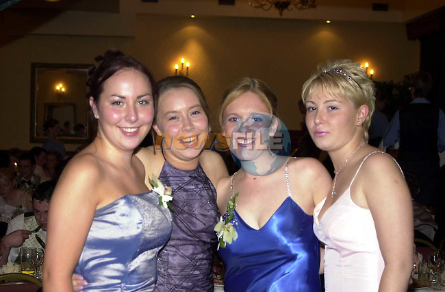 Vivian Ryler, Emer McDonnell, Ann Hoey and Lavinia McGuinness at the Greenhills Grad.Picture Fran Caffrey Newsfile
