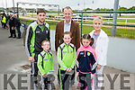 l-r  Mark Hasset, Sophia Hasset, Jessica McGibney, Paul Geaney, Liam Hasset and Katie Hasset  enjoying  the Kerry GAA Night of Champions at the Kingdom Greyhound Stadium on Friday