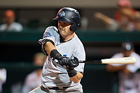 Tampa Tarpons designated hitter Tim Lynch (26) swings at a pitch during a game against the Lakeland Flying Tigers on April 5, 2018 at Publix Field at Joker Marchant Stadium in Lakeland, Florida.  Tampa defeated Lakeland 4-2.  (Mike Janes/Four Seam Images)