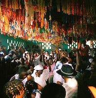 Worshippers at a Haitian Voodoo ceremony in Port-Au-Prince, Haiti