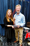 Aidan O'Carroll presents Clodagh Gaynor with the Student of the Year Award at Kerry School of Music awards ceremony on Friday night.