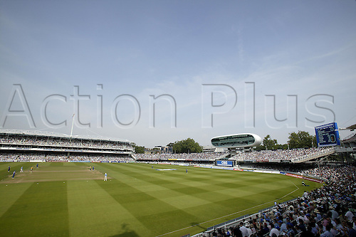 3 September 2005: General view of the ground during the Cheltenham and Gloucester Trophy final between Hampshire and Warwickshire at Lords, London. Photo: Steve Bardens/Actionplus..050903 cricket venues grandstand