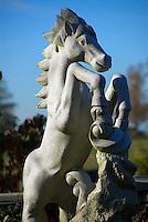 Horse Statue Spirt Of The Horse Garden Campbell Valley Park Langley B.C.