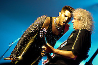 Queen + Adam Lambert at the Hard Rock Hotel in Las Vegas on Saturday July 5, 2014.
