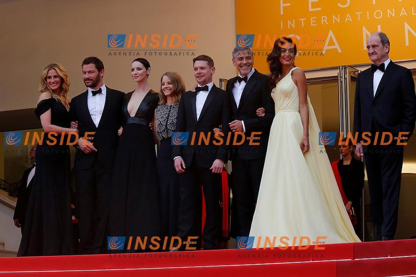 Jodie Foster, George Clooney, Julia Roberts, Dominic West&nbsp;, Caitriona Balfe, Jack O'Connel, Daniel Dubiecki, Lara Alameddine, Grant Heslov, Jamie Linden<br /> Festival di Cannes 2016 <br /> Foto Panoramic / Insidefoto
