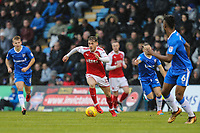 Conor McAleny of Fleetwood Town on the ball during the Sky Bet League 1 match between Gillingham and Fleetwood Town at the MEMS Priestfield Stadium, Gillingham, England on 27 January 2018. Photo by David Horn.