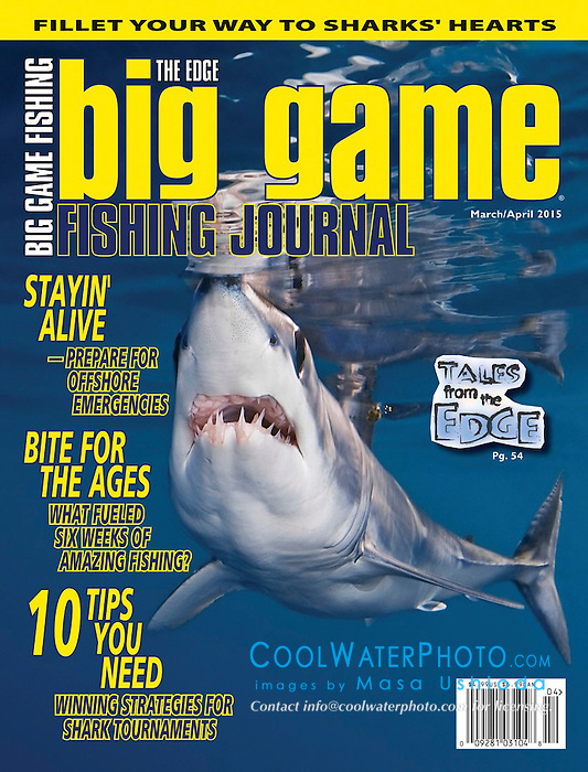Big Game Fishing Journal Magazine, March/April 2015, magazine cover use, editorial, USA, Image ID: 051002-0158-V